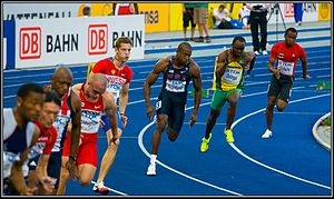 Sprint (running) - A 200 m bend