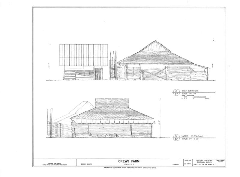 File:Crews Farm, Macclenny, Baker County, FL HABS FL-398 (sheet 20 of 24).png