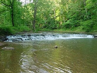 David Crockett State Park - Image: Crockett Falls in David Crockett State Park (Front View June 2005)
