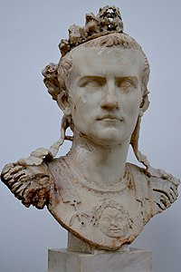 Cuirassed bust of Caligula, found in Rome, AD 37-41, Ny Carlsberg Glyptotek, Copenhagen (13192017765).jpg