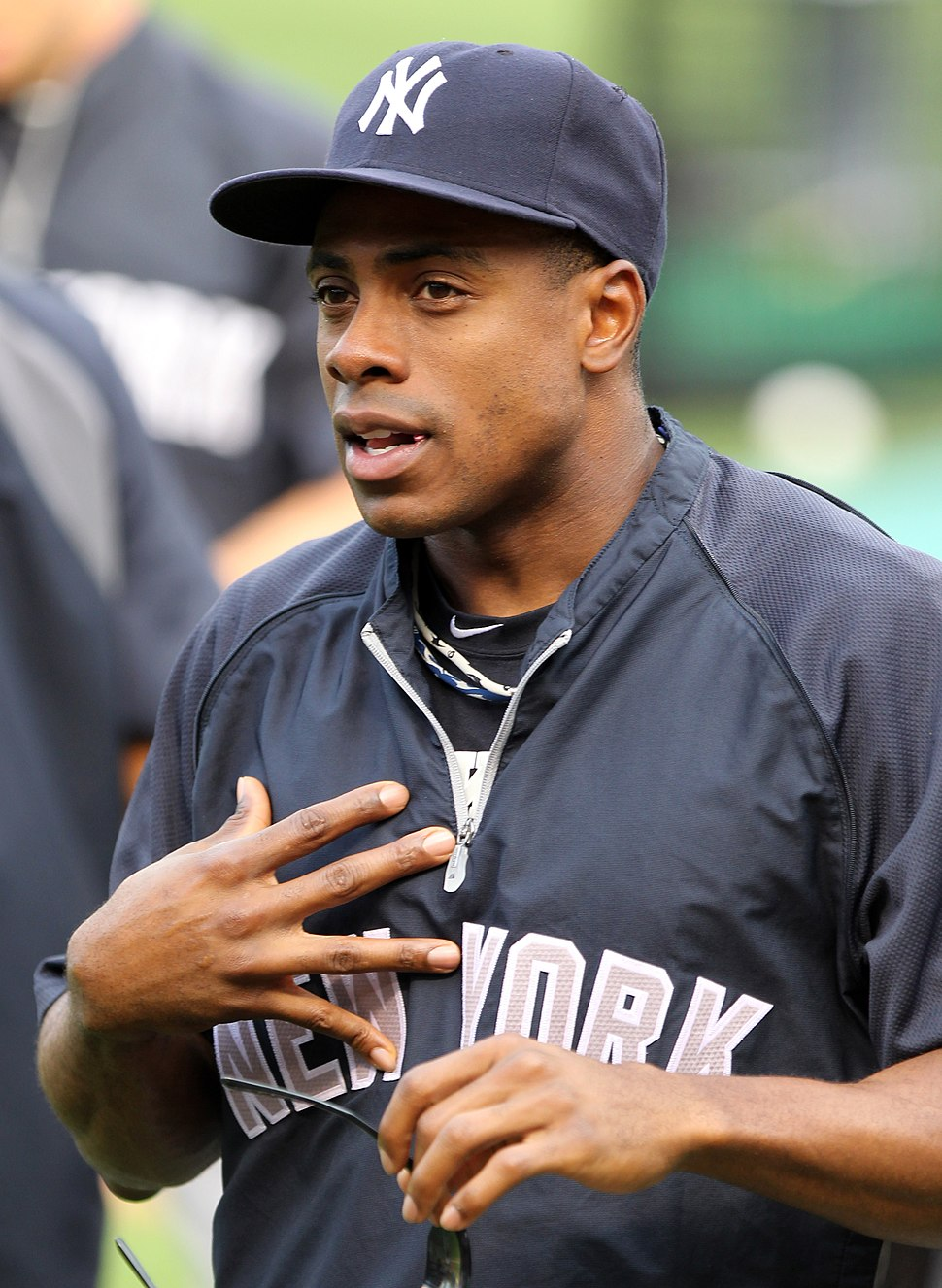 Curtis Granderson on August 26, 2011