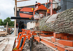 Portable sawmill - A portable sawmill enables small to medium-sized lumber producers the flexibility of cutting their own logs to their needs.