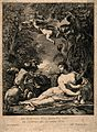 Cybele, a Phrygian earth goddess, surrounded by putti, lions Wellcome V0015028.jpg