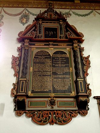 Christian views on the Old Covenant - The decalog of the reformed church of Ligerz, Switzerland