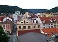 Děčín, pohled z Růžové zahrady k Masarykovu náměstí.jpg