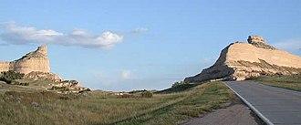 Wildcat Hills - Mitchell Pass looking east