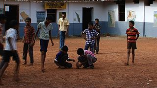 Seven stones Indian ball game
