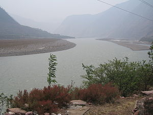 Dadu River (Sichuan) - The Dadu River in Hanyuan