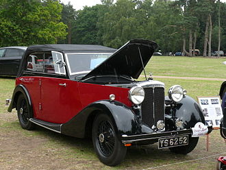 Abbey (coachbuilder) - 1936 Martin Walter Wingham 4-dr all-weather body on a Daimler Fifteen chassis —Sandringham