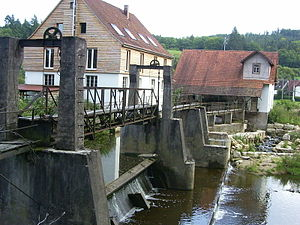 Abtsgmünd - Image: Dam across Kocher