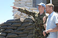 Damien Duff and his brother Sergeant Gerry Duff visit the troops of the Irish 106 Battalion in Tibnine Lebanon (7514461606).jpg