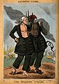 Daniel O'Connell and the devil as the Siamese twins joined a Wellcome V0011343.jpg