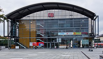 Darmstadt Hauptbahnhof - Exterior view of the western shopping centre