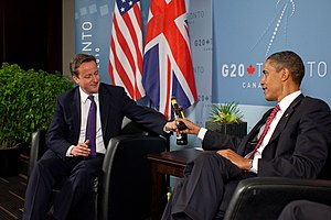 US President Barack Obama and British Prime Mi...