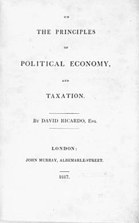 <i>On the Principles of Political Economy and Taxation</i> tract by David Ricardo