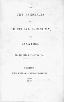 David Ricardo - On the principles of political economy and taxation (1817, title).jpg