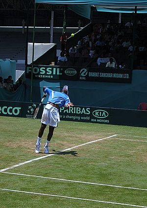 Brabourne Stadium - The 2006 Davis Cup match in progress