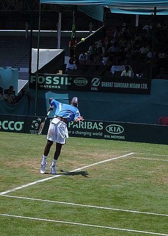Brabourne Stadium - The 2006 Davis Cup match in progress