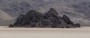 Racetrack Playa - The Grandstand in the northwest area of the playa