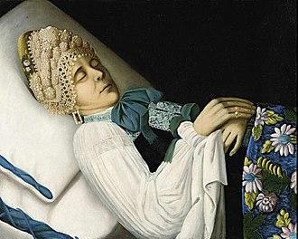 Mourning portraits - Image: Deathbed portrait of Toropets merchant woman by anonim (19 c., Egorievsk)