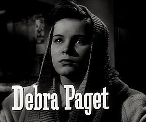 Debra Paget - Paget in the trailer for Cry of the City (1948)