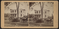 Debris littering the yard of a damaged house with fences, by William Allderige.png