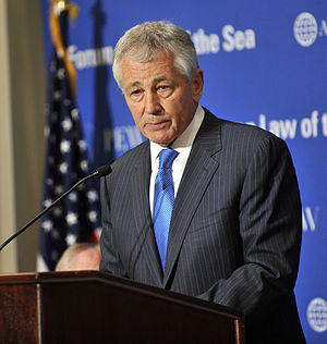 Chuck Hagel - Hagel speaking at a forum for the Law of the Sea Convention in Washington, D.C., May 9, 2012.