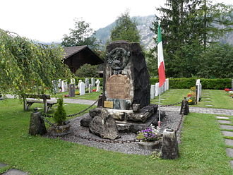 Kandersteg - Memorial in Kandersteg to workers killed during construction of the Lötschberg Tunnel
