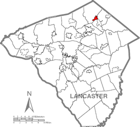 Denver, Lancaster County Highlighted.png