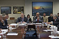 Deputy Defense Secretary Bob Work, center left, and Homeland Security Secretary Jeh Johnson, center right, listen during a Council of Governors meeting at the Pentagon 150220-D-DT527-032.jpg