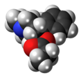 Desmethylprodine molecule spacefill.png