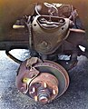 Detail of - AMC Pacer - right front disc brake and suspension system.jpg