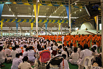 Wat Phra Dhammakaya - Ordination ceremony for new monks at Wat Phra Dhammakaya