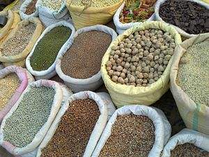 Grain - Food grains at a market