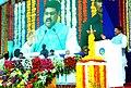 "Dharmendra Pradhan addressing during the dedication ceremony of ""Crude Distillation Unit"" to the Nation, in Mumbai. The Chief Minister of Maharashtra, Shri Devendra Fadanavis, the Secretary.jpg"