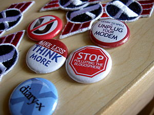 Diary-X - Diary-X buttons and patches.