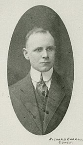 Photographic portrait of Dick Carroll, first manager of the Arenas