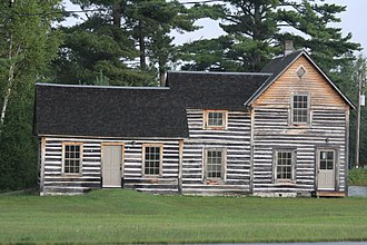 National Register of Historic Places listings in Forest County, Wisconsin - Image: Dinesen Motzfeldt Hettinger Log House August 2013