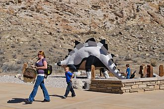 Louis Paul Jonas - Stegosaurus from the 1964 World's Fair at the Quarry Visitor Center in Dinosaur National Monument