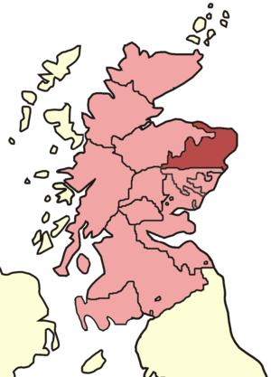 Diocese of Aberdeen - Skene's map of Scottish bishoprics in the reign of David I (reigned 1124–1153).