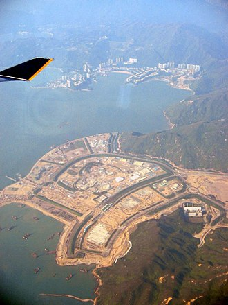 Land reclamation in Hong Kong - Image: Disneyland Site from the air
