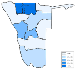 Distribution of Oshiwambo in Namibia.png
