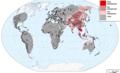 Distrinution of basal haplogroups D, C and F.png