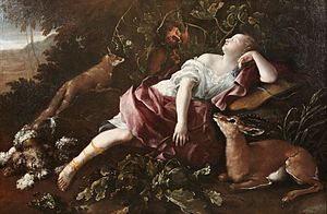 Domenico Guidobono - Sleeping Diana