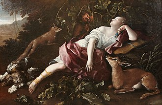 Domenico Guidobono - Sleeping Diana