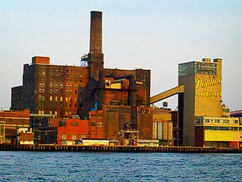 Domino Sugar Refinery in Williamsburg