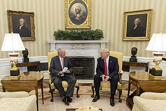 Pedro Pablo Kuczynski - Kuczynski with President Donald Trump in the Oval Office.