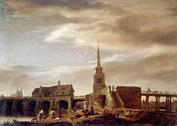 Lambert Doomer: The Pont des Treilles on the Maine River in Angers