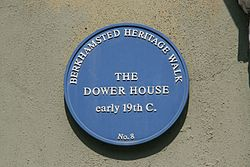 Photo of Dower House, Berkhampstead blue plaque