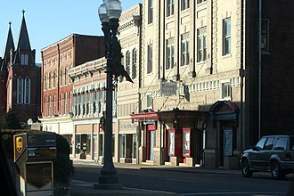National Register of Historic Places listings in Alleghany County, Virginia - Image: Downtown Clifton Forge, Virginia, January 2008